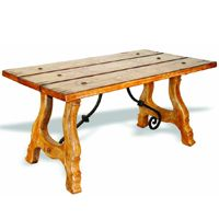 Painted Carmel Plank Wood Table