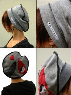 Du fil et mon... Snood Scarf, Church Hats, Diy Sewing Projects, Polar Fleece, Fashion Sewing, Head Wraps, Crochet, Knitting, How To Wear