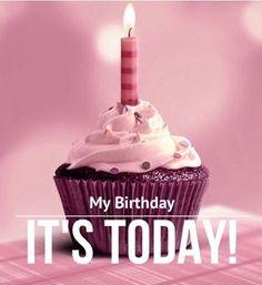 It's my birthday ^^ Happy Birthday To Me Quotes, Happy Birthday Wishes Cake, Birthday Girl Quotes, Birthday Blessings, My Birthday Pictures, Its My Birthday Month, 28th Birthday, Todays Birthday, Birthday Captions