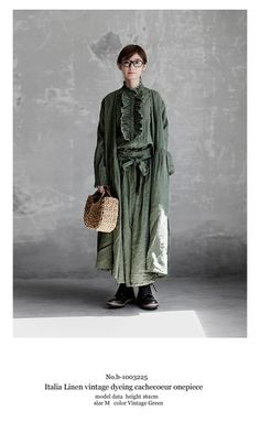 Mori Girl Fashion, Womens Fashion, People Illustration, Made Clothing, Natural Looks, Linen Fabric, Cute Dresses, Style Me, Winter Fashion