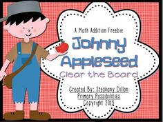 Johnny Appleseed Clear the Board Math Freebie!  A great way to practice math facts!  FREEBIE!