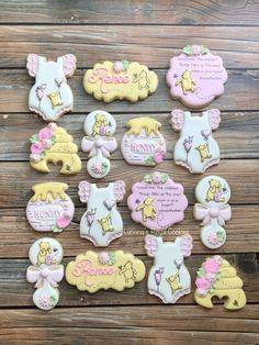 Baby Girl Cookies, Baby Shower Cookies, Sons Birthday, Birthday Week, Baby Birthday, Birthday Ideas, Royal Icing Cookies, Sugar Cookies, Rose Cookies