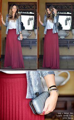 Burgundy Skirt - Thassia Naves