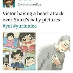 VICTOR IS NOT THE ONLY ONE WITH A HEART ATTACK OMG WHY IS YUURI SO CUTE