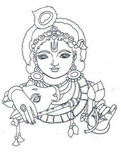 Line-Art Krishna Avatar Krishna Drawing, Krishna Painting, Krishna Art, Art Drawings For Kids, Outline Drawings, Art Drawings Sketches, Outline Art, Abstract Drawings, Pencil Drawings
