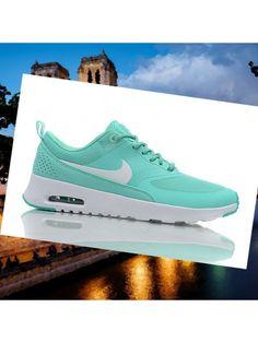 Chaussures Nike Air Max Thea néon blanc turquoise femmes NuGSg