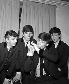 Richard Starkey, George Harrison, John Lennon, and Paul McCartney