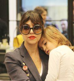 Kourtney Kardashian shopping with son Mason and mother Kris Jenner at Selfridges in London