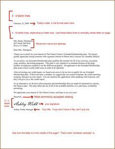 business letter block format