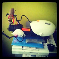 Portal Gun atop my printer...