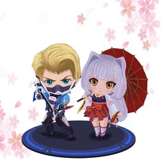 Hayabusa and Kagura Chibi Wallpaper, Mobile Legend Wallpaper, Black Wallpaper, Alucard Mobile Legends, Anime Angel Girl, Chibi Couple, The Legend Of Heroes, Cute Anime Coupes, Lightning Mcqueen