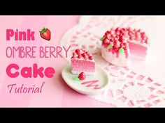 how to: miniature pink ombre berry cake