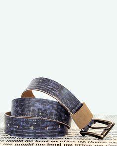 Printed Leather Belt