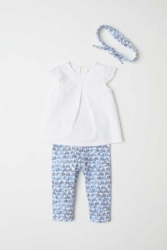 Gymboree Baby Boats /& Blooms Flower Bird Shirt /& Pants Outfit Set Sz 3 6 mo NEW
