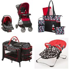Copy of Disney Mickey Mouse Baby Gear Bundle,Stroller Travel System,Play Yard, and Diaper Bag