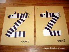 letter of the week preschool crafts: z is for zebra