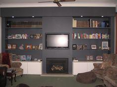 TV Wall Conversion by Webber Architects (Newcastle AUS) #interiordesign #storage