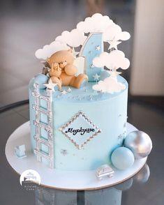 1 Year Old Birthday Cake, Baby Boy Birthday Themes, Boys 1st Birthday Cake, Special Birthday Cakes, 1st Birthday Decorations, Birthday Cake For Women Elegant, Birthday Cakes For Women, Baby Shower Cakes For Boys, Baby Boy Cakes