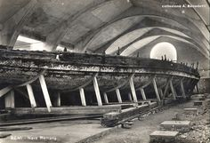 Lake Nemi ship. Sadly, both ships, only recently recovered from Lake Nemi, were destroyed in WWll.