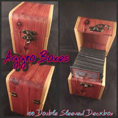 Hey, I found this really awesome Etsy listing at https://www.etsy.com/listing/279214692/magic-the-gathering-deck-box-holds-100