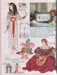 0 point de croix robes au fil du temps- cross stitch  dresses over the years 1