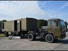 Daf FT-1600 trekker met Daf YAA602 trailer Marine, Military Equipment, Military Vehicles, Netherlands, Army, Trucks, The Nederlands, Gi Joe, The Netherlands