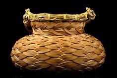 Kagedo Japanese Art Iizuka Rokansai, Flower Basket titled: Hojyu or Buddhist Jewel - Kagedo Japanese Art