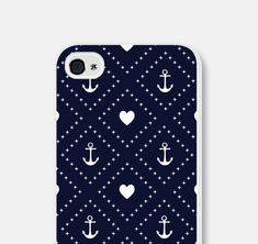 Anchor iPhone Case - Anchor iPhone 4 Case Anchor iPhone 5 Case Anchor iPhone 5c Case Anchor iPhone 5s Case Nautical Navy Blue 4th of July