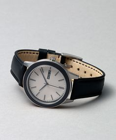 New 351 Series by Uniform Wares now available at Dezeen Watch Store Modern Watches, Luxury Watches For Men, Uniform Wares Watch, Dezeen Watch Store, Well Dressed Men, Men's Collection, Grey Leather, Shoe Boots, Fashion Accessories
