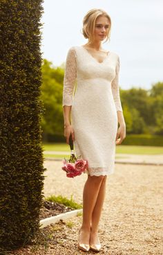 Anya Lace Wedding Dress Ivory - Wedding Dresses, Evening Wear and Party Clothes by Alie Street.
