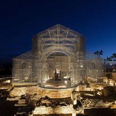 Edoardo+Tresoldi+uses+wire+mesh+to+reconstruct+ancient+Roman+church+in+Italy