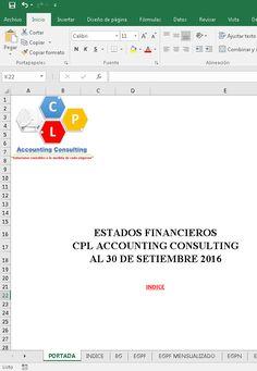 Modelo de EE.FF CPL Accounting Consulting al 30 de Setiembre de 2016.              En el presente Blog estoy haciendo un aporte contable ...