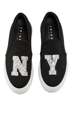 Sparkle Ny Sneakers by JOSHUA SANDERS Now Available on Moda Operandi