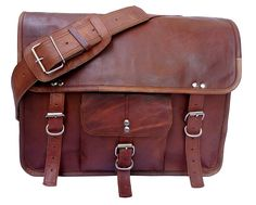 Gbag (T) Men's Leather Satchel Briefcase, 16' Laptop Messenger Shoulder Bag Tote *** More info could be found at the image url. (This is an Amazon Affiliate link and I receive a commission for the sales)