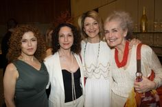 These dames: Bernadette Peters, Bebe Neuwirth, Victoria Clark and Mary Beth Peil
