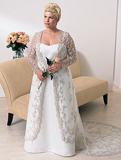 1000 images about wedding dresses on pinterest older for Wedding vow renewal dresses plus size