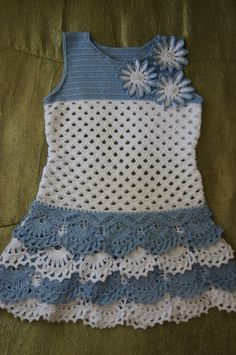 Crochet Knitting Handicraft: Girl dress