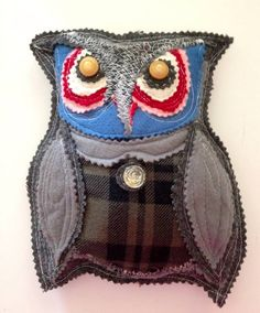 Stuffed animal  Owl  Novelty stuffed owl toy by pinksewingroom, $19.00  Nursery wall decor