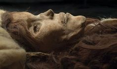 """""""The Beauty of Xiaohe,"""" female mummy, ca BC. Excavated from Xiaohe (Little River) Cemetery Charqilik (Ruoqiang) County, Xinjiang Uygur Autonomous Region, China."""