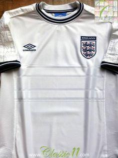 Relive England's 1999/2000 international season with this original Umbro home football shirt.