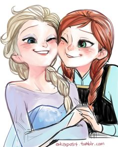Frozen Anna and Elsa Disney Films, Disney And Dreamworks, Disney Love, Disney Magic, Disney Frozen, Disney Pixar, Walt Disney, Disney Ideas, Frozen Drawings