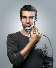 Great Big Canvas 'Self Sketch' by Sebastien Del Grosso Graphic Art Print Format: White Frame, Size: H x W x D Self Portrait Photography, Creative Photography, Photography Tips, Stunning Photography, Night Photography, Photography Business, Trucage Photo, Photo Art, Creative Self Portraits