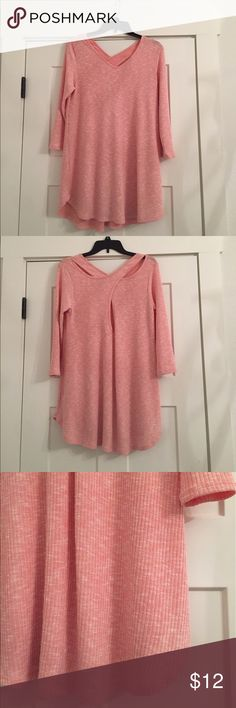 """Peach Tunic Blouse/Dress In PERFECT condition. Worn once to my engagement photo shoot and hasn't been worn since. It can be worn as a dress or as a blouse, just depends on how tall you are. I am 5'9"""" and wore it as blouse with black pants. boutique Tops Blouses"""