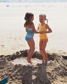 Make a pond. Fun idea for beach