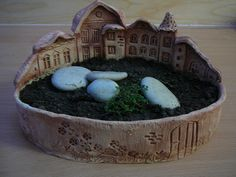 I want to make a beautiful piece like this by hand. I could make a few and make them fairy towns for my girls.