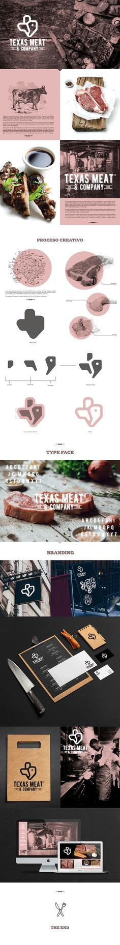 TEXAS MEAT & COMPANY on Behance                                                                                                                                                                                 Mais