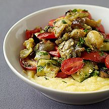 Roasted Vegetables and Polenta Lava - 6 points- I've actually made this, and it's DE-licious! even the hubby liked it!