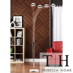 TRIBECCA HOME Modern Silver Chrome Arch Lamp | Overstock.com Shopping - Great Deals on Tribecca Home Floor Lamps