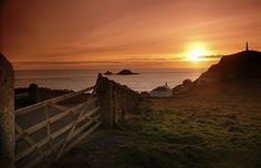 CAPE CORNWALL | 'The National Trust car park sits just above the walk down to the beach; there are little fisherman's huts littered along the edge, one of which is a small studio cultivated by the artist Kurt Jackson. A mile from the beach, lazing in the Atlantic are the Brisons – two giant rocks resembling Charles de Gaulle lying on his back.'     ✫ღ⊰n