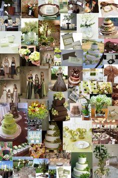 wedding in autumn brown and green / matrimonio in autunno colore marrone e verde